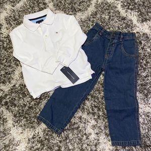 Polo shirt and jeans